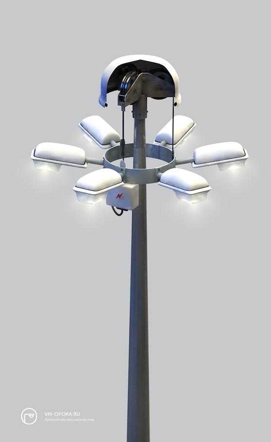 Цены на высокомачтовые осветительные установки