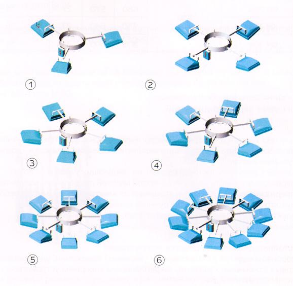 Варианты исполнения спускных рам для размещения консольных прожекторов